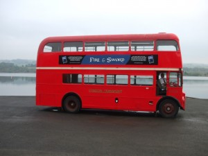 Some Unusual Publicity Courtesy of Brian Turner's Routemaster Bus (Copyright Louise Turner 2013)
