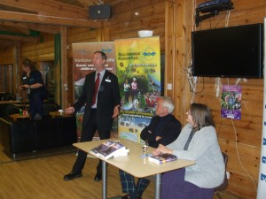 Charles Woodward, Manager of the Clyde Muirshiel Regional Park, Introduces The Evening at Castle Semple Visitor (Copyright James Dunlop 2013)